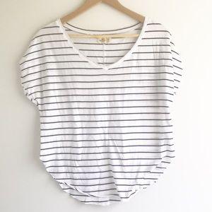 Hollister Short Sleeve Striped V-neck Tee